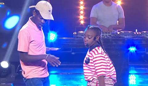 Killer Kau and Mbali performing song Tholukuthi Hey On Idols SA 2017 Season 13