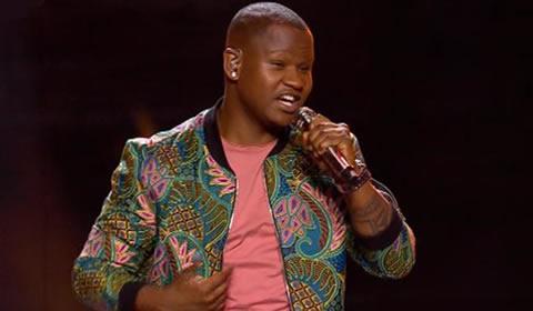 Mthokozisi Ndaba performing Nkosiyamakhosi by Afro Traction