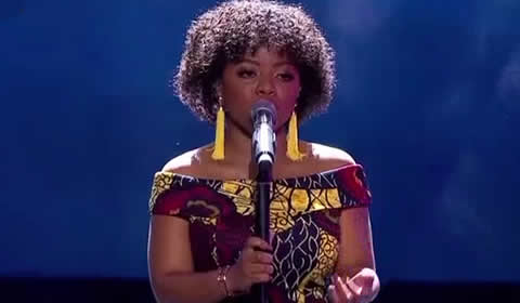 Thando Mngomezulu performing Giving Myself By Jennifer Hudson