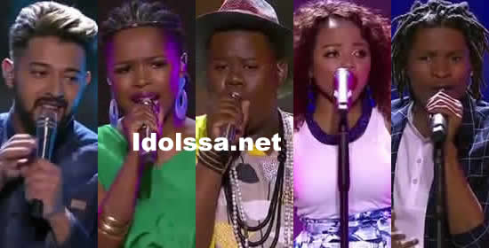 Idols SA 2018 Season 14 Top 5 Contestants Voting