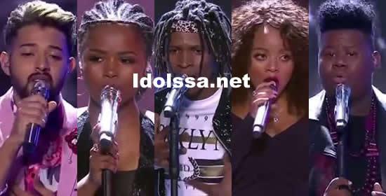 Idols SA 2018 Season 14 Top 5 Contestants