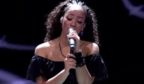 Nosipho Silinda performing Hurt By Christina Aguilera