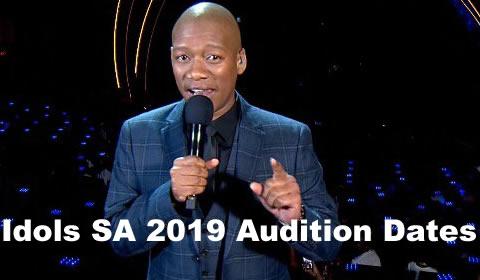 Idols SA 2019 audition dates