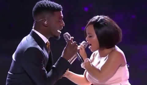 Idols SA 2018 Thando Mngomezulu and Karabo Mogane's duet The Closer I Get to You Beyonce and Luther Vandross