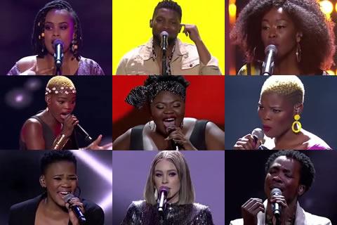 Idols SA 2019 Top 9 Contestants