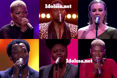 Idols SA 2019 Top 6 Contestants Virginia, Nolo, Micayla, Luyolo, Sneziey and Viggy