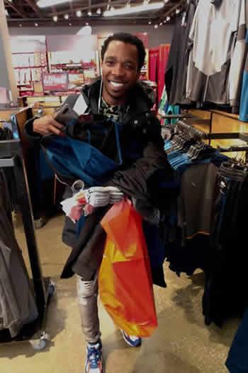Luyolo Yiba shopping in Woodbury, New York