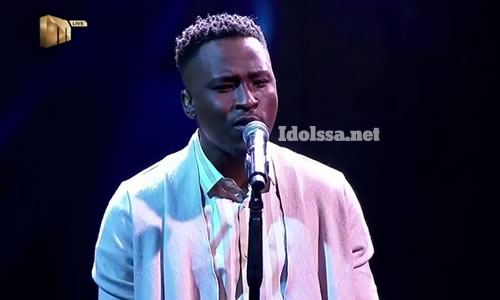 Brandon Dhludhlu performing 'Dancing on my Own' by Calum Scott on Idols SA 2020 'Season 16'