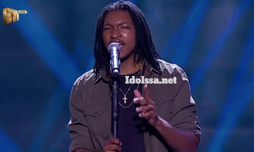 Qhawe Mahlangu performing 'Try A Little Tenderness' by Chris Brown on Idols SA 2020 'Season 16'