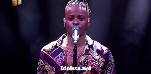 ZanoThando Sonwabile performing 'I Got A Woman' by Elvis Presley on Idols SA 2020 'Season 16'