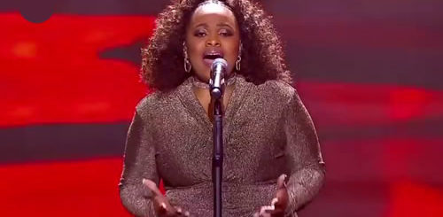 Bongi Mntambo performing 'All The Man That I Need' by Whitney Houston