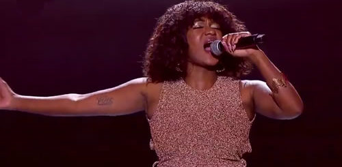 Dee Mayekane performing 'Rolling In The Deep' by Adele