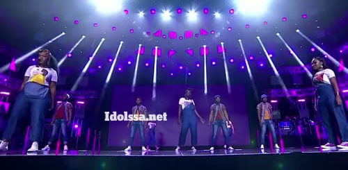 Idols SA 2020 top 9 contestants performing 'Umona' by TNS and Mpumi