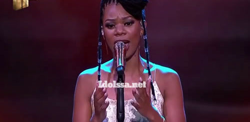 Ntokozo Mvelase performing 'Happiness' by Kelly Khumalo