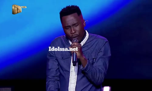 Brandon Dhludhlu performing 'Sweet Lady' by Tyrese on Idols SA 2020
