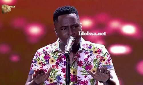 Brandon Dhludhlu performing 'Ubala' by Simmy featuring Sun El-Musician on Idols SA 2020