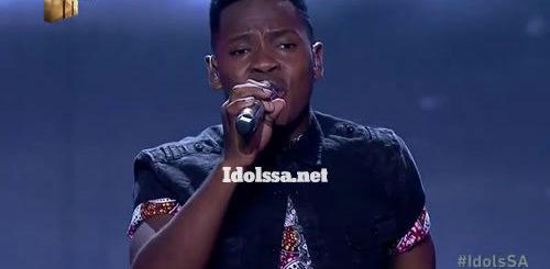 Mr Music performing 'Ngaqonywa' by Aubrey Qwana on Idols SA 2020