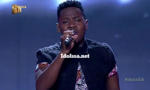 Mr Music performing 'Ngaqonywa' by Aubrey Qwana on Idols SA 2020