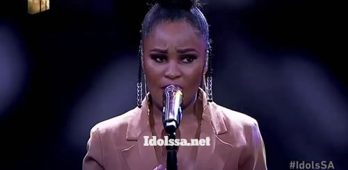Zama Khumalo performing 'Everything I Wanted' by Billie Eilish on Idols SA 2020