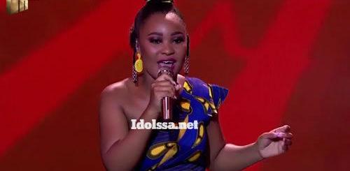 Zama Khumalo performing 'Wedding Day' by Brenda Fassie on Idols SA 2020