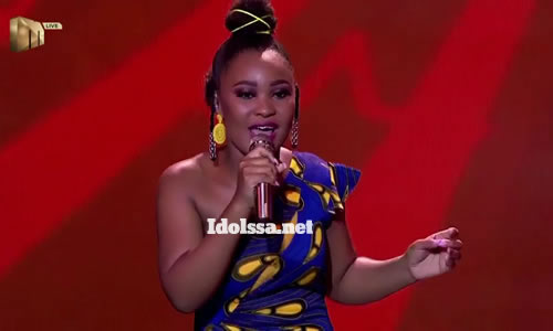 Zama Khumalo performing 'Wedding Day' by Brenda Fassie on Idols SA 2020