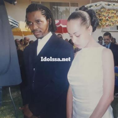 Candy Litchfield and ex-husband Hlomla Dandala wedding day