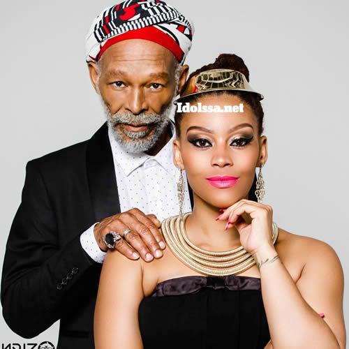 Letoya Makhene and father, musician Blondie Makhene