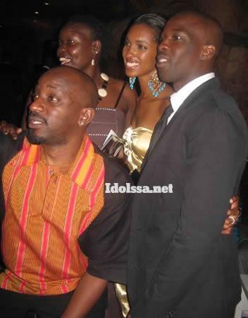 Sami Sabiti and Gaetano Kagwa at the 2009 Face Of Africa Finale