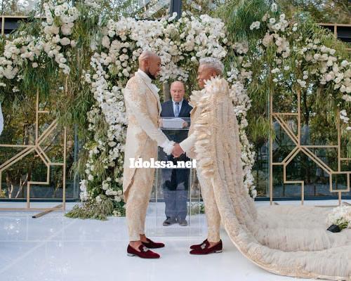 Somizi Mhlongo and Mohale Tebogo Motaung white wedding