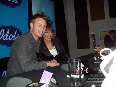 Jason Dean Hartman and Sasha-Lee Davids at M-Net Press Conference