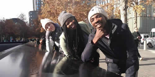 Season 15 Top 3 Micayla, Sneziey and Luyolo at the 9/11 memorial