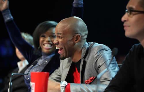 Guest judge Ziyon from Liquideep at the Idols SA Season 7 Top 10 Show