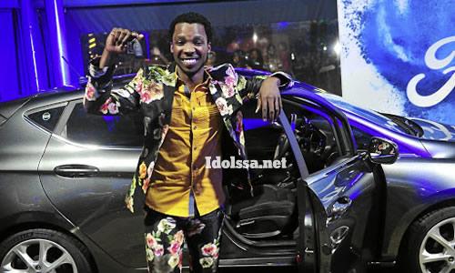 Idols SA Season 15 winner, Luyolo Yiba and his Ford Fiesta prize car