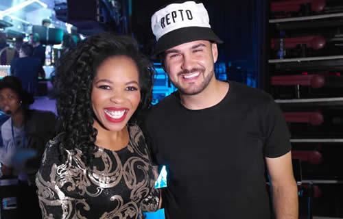 Mmatema Moremi and J'Something at the Idols SA Season 11 Grand Finale