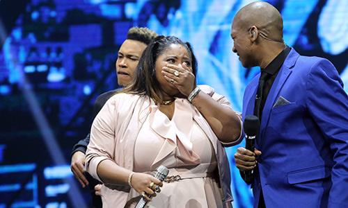 Noma Khumalo cries after winning Idols SA Season 12