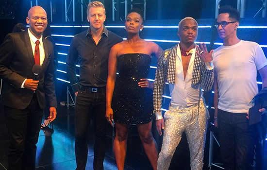 Idols SA Season 11 Presenter ProVerb and Judges, Gareth Cliff, Unathi Nkayi, Somizi Mhlongo and Randall Abrahams