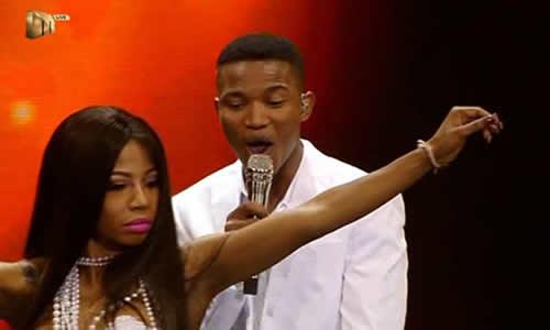 Idols SA Season 12 Thami Shobede and Kelly Khumalo duet