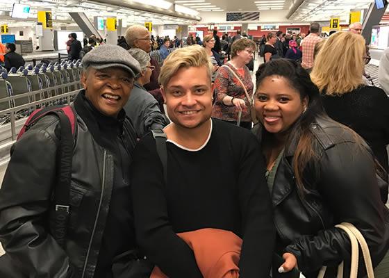 Idols SA Season 12 Top 4 Contestants New York Trip, Thami Shobede, Noma Khumalo, Terra Cox and Tebogo Louw Meet Hugh Masekela