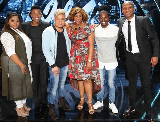 Idols SA Season 12 Top 5 Contestants and Presenter ProVerb