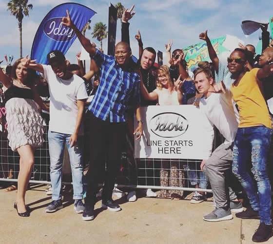Presenter, ProVerb at the Idols SA Season 13 Durban Auditions