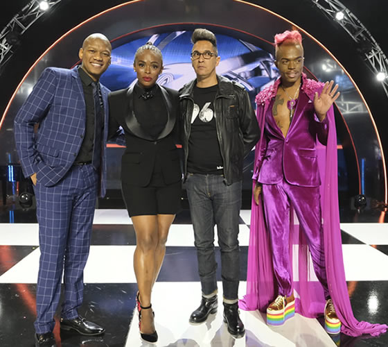 Idols SA Season 14 Presenter, ProVerb and Judges Unathi Nkayi, Randall Abrahams and Somizi Mhlongo