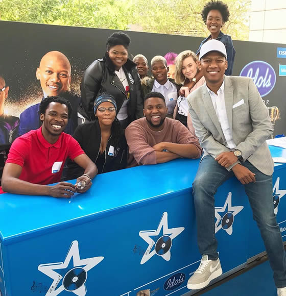 Idols SA Season 15 Top 8 Contestants at the Telkom South Africa Activation