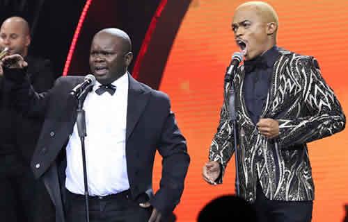 Idols SA Season 16 Grand Finale, Mbefu Njengempisi (Wooden Mic winner) and Somizi Mhlongo performing