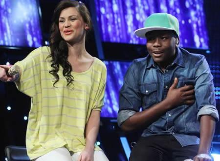 Idols SA Season 8 Top 2 contestants, Khaya Mthethwa and Melissa Allison