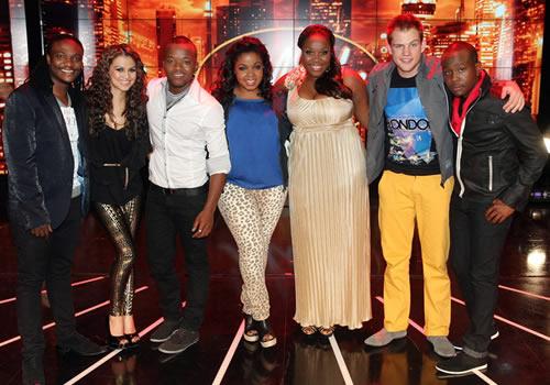 Idols SA Season 8 Top 7 contestants