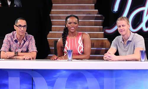 Idols SA Season 9 Judges Randall Abrahams, Unathi Nkayi and Gareth Cliff