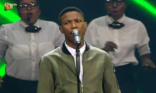 Thami Shobede performs at the Idols SA Season 12 Grand Finale