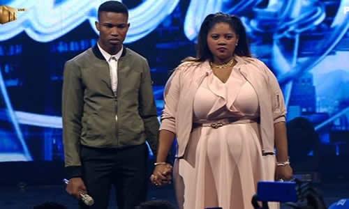 Thami Shobede and Noma Khumalo at the Idols SA Season 12 Grand Finale