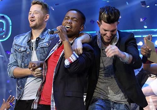 Idols SA Season 10 Winner Vincent Bones performing at the Grand Finale