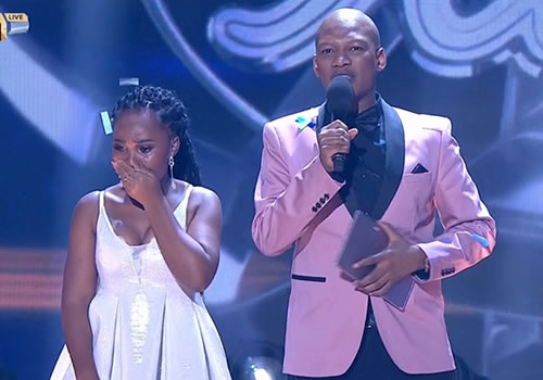 Zama Khumalo being announced as Idols SA Season 16 winner